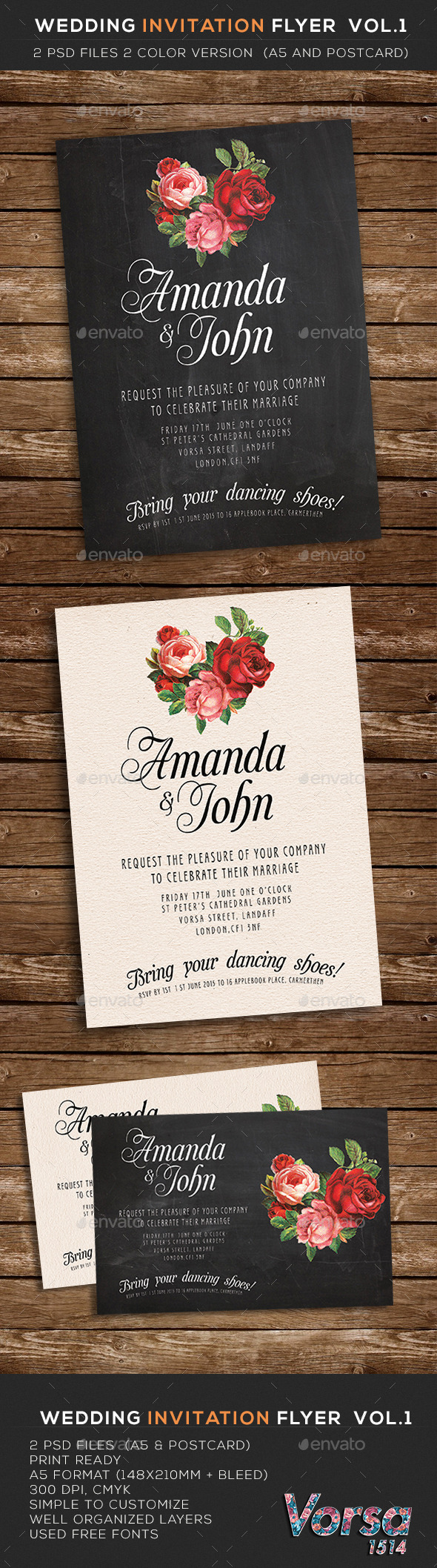 Wedding Invitation Flyer  vol.1