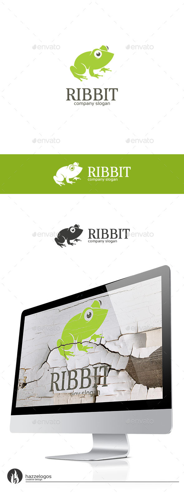Ribbit Logo - Animals Logo Templates