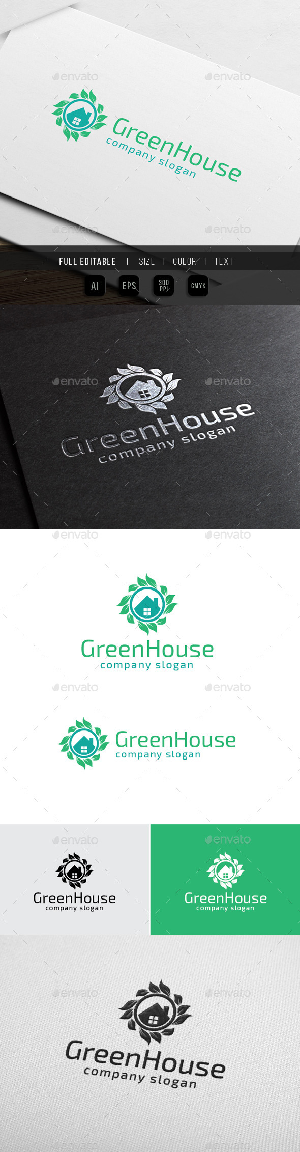 Green House - Herbal Clinic - Abstract Logo Templates