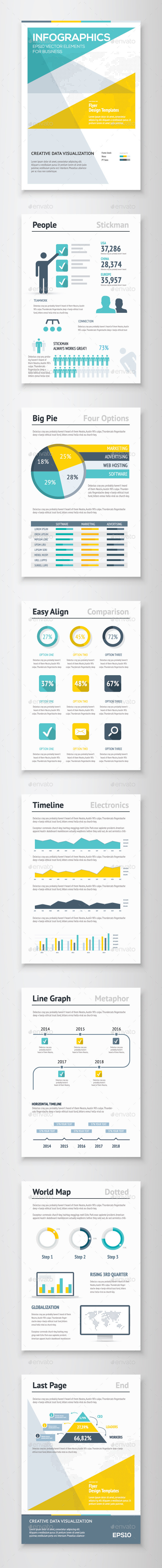 Infographic Brochure Vector Elements Kit 4 - Infographics