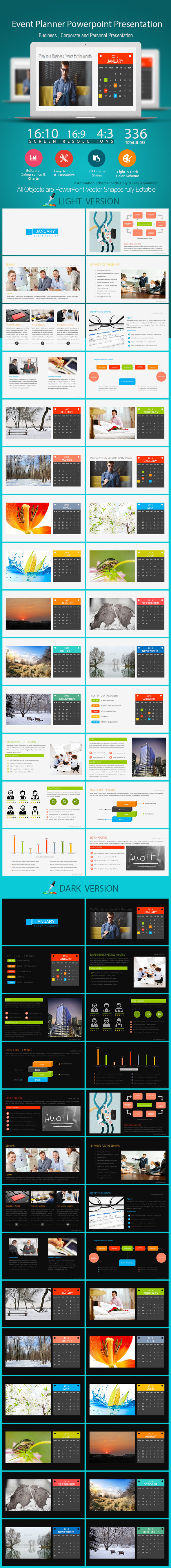 Event Planner Power Point Presentation - PowerPoint Templates Presentation Templates