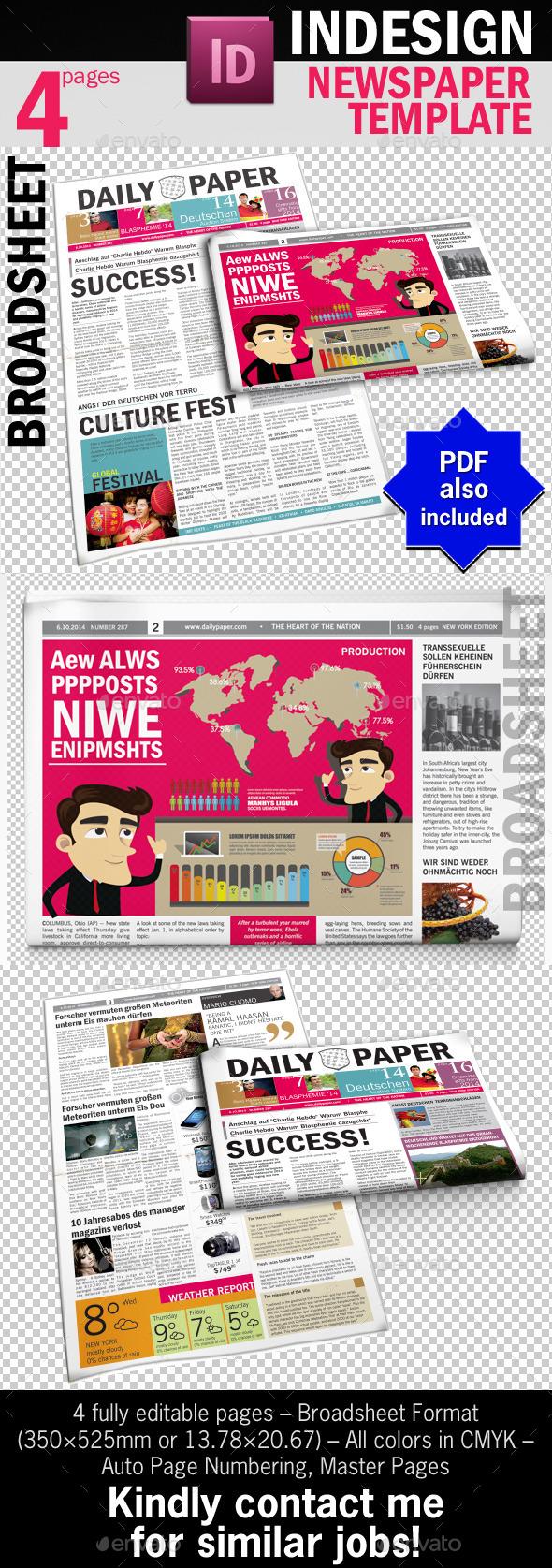 DailyPaper :: Newspaper Template - Newsletters Print Templates