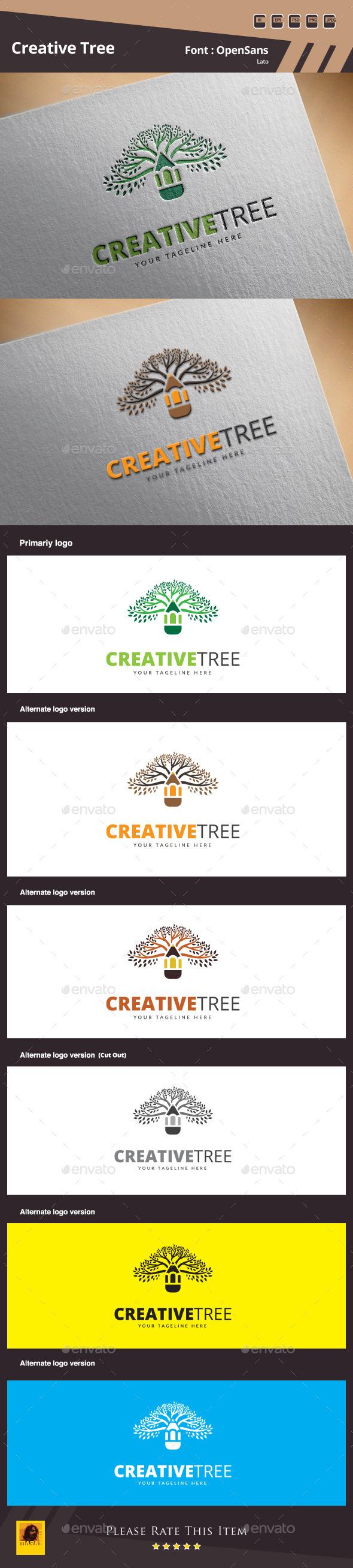 Creative Tree Logo Template - Symbols Logo Templates