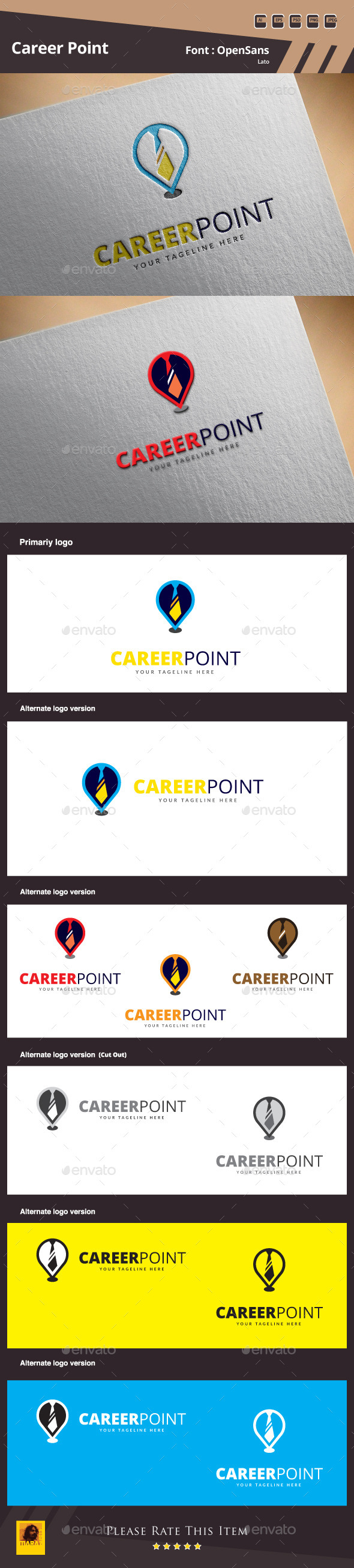 Career Point Logo Template - Symbols Logo Templates