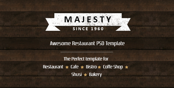 Majesty – Awesome Restaurant PSD Template