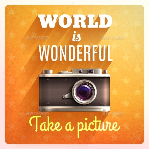 Retro Camera Poster - Technology Conceptual