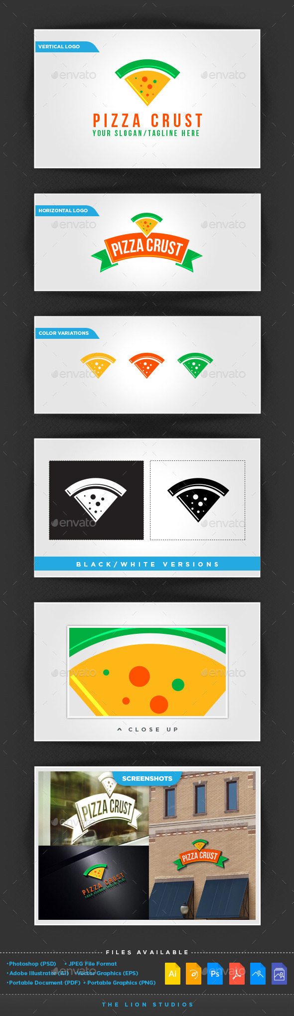 Pizza Crust - Food Logo Templates