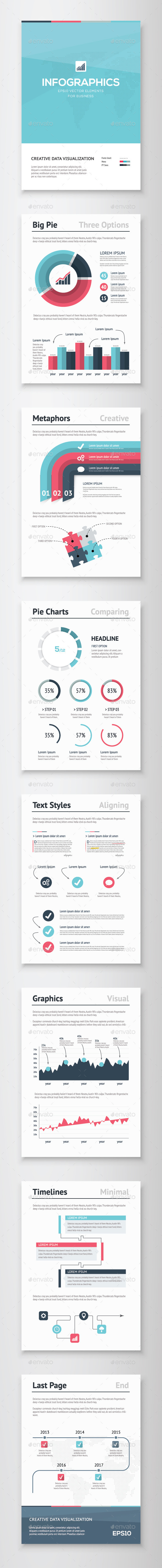 Infographic Brochure Vector Elements Kit 5 - Infographics