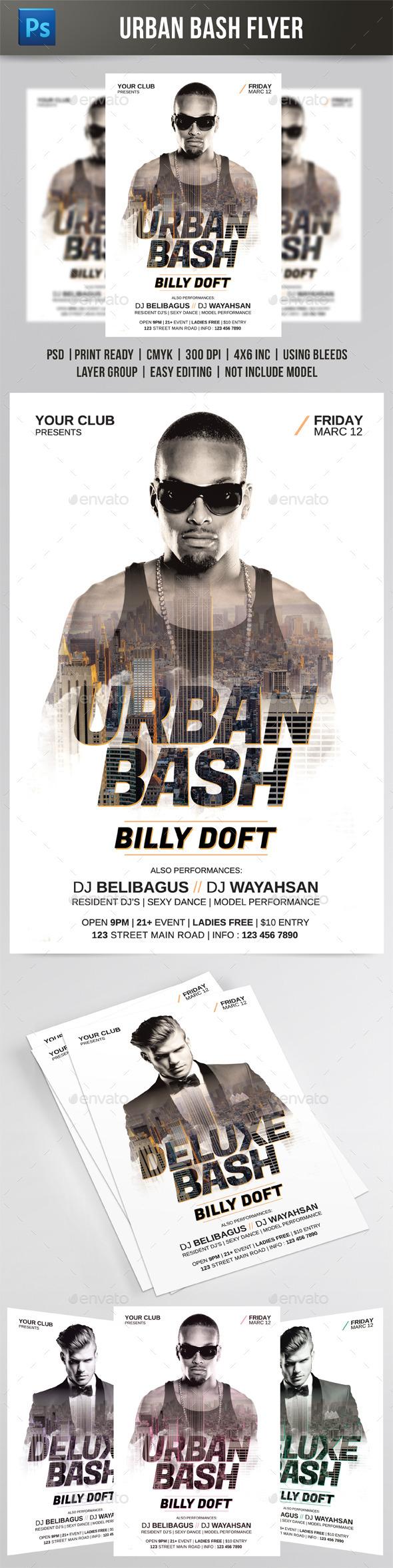 Urban Bash Flyer - Events Flyers