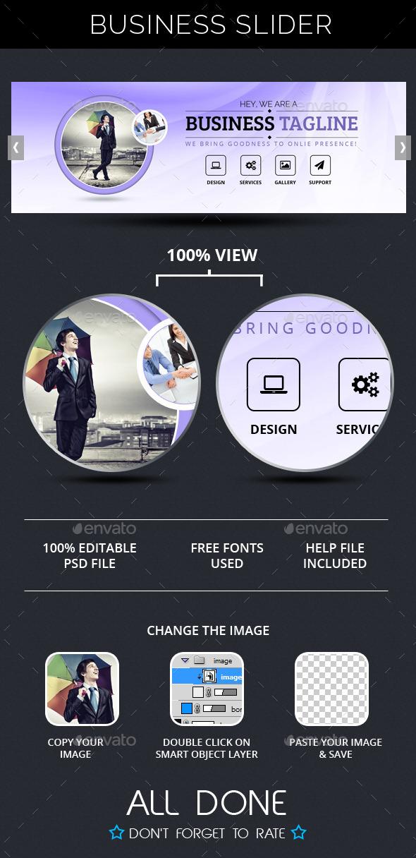 Business Slide V3 - Sliders & Features Web Elements