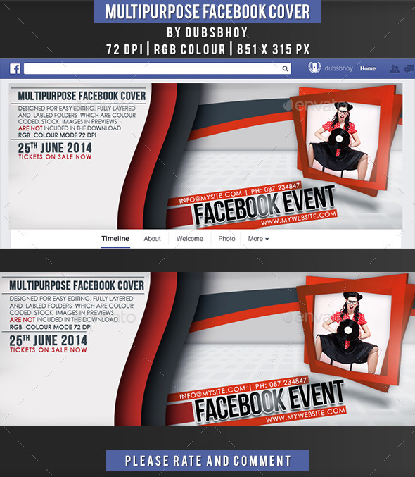 Multi Purpose Facebook Cover - Facebook Timeline Covers Social Media
