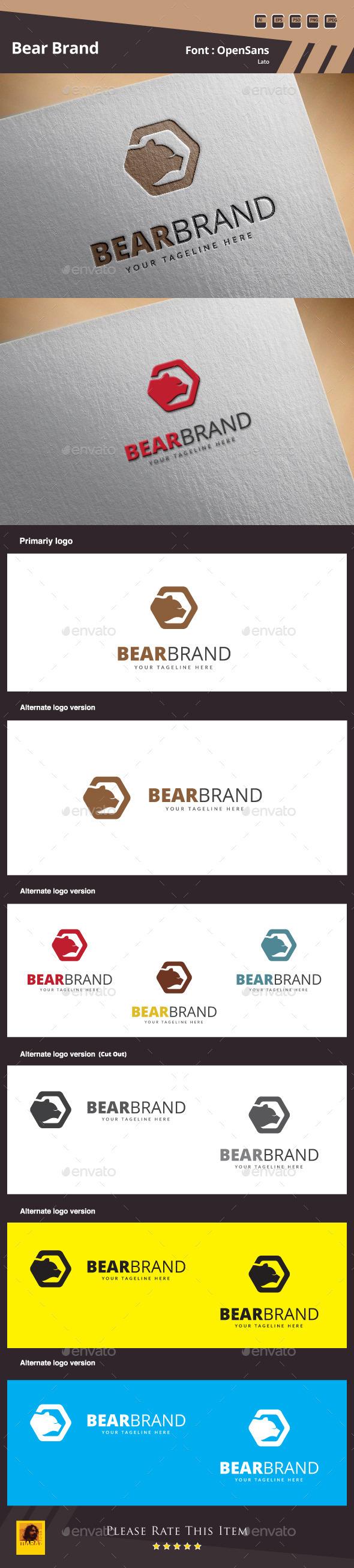 Bear Brand Logo Template - Animals Logo Templates