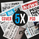 5 Newspaper Covers A4 Format - GraphicRiver Item for Sale