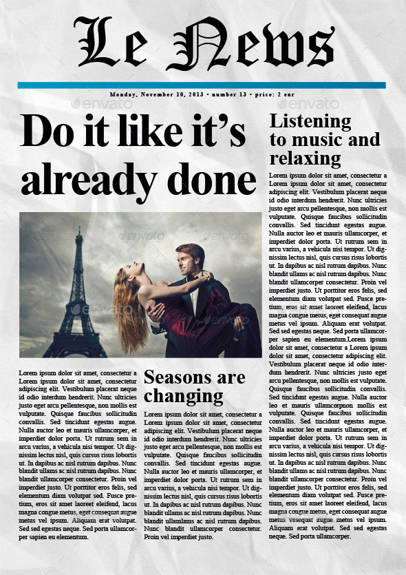 5 newspaper covers a4 format by zigazi83