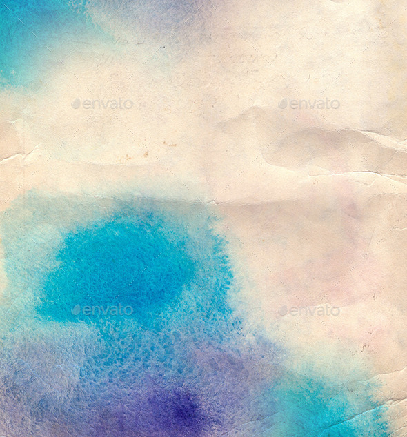 Abstract Blue Watercolor Background - Abstract Textures