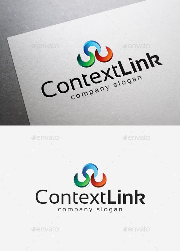 Context Link Logo - Abstract Logo Templates