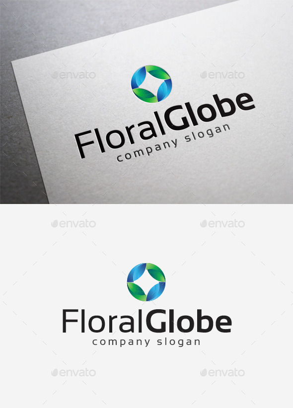 Floral Globe Logo - Abstract Logo Templates