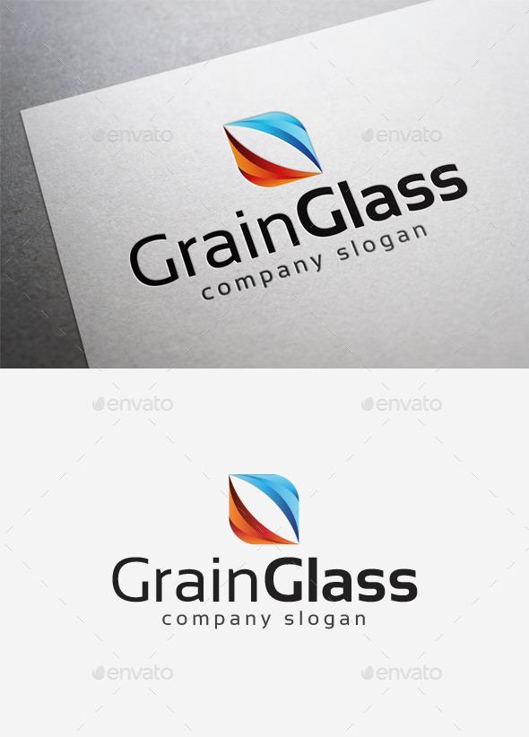 Grain Glass Logo - Abstract Logo Templates
