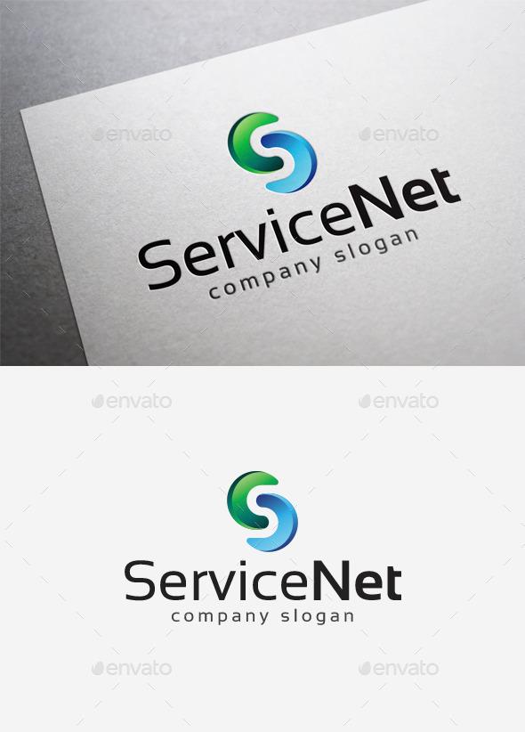 Service Net Logo - Letters Logo Templates