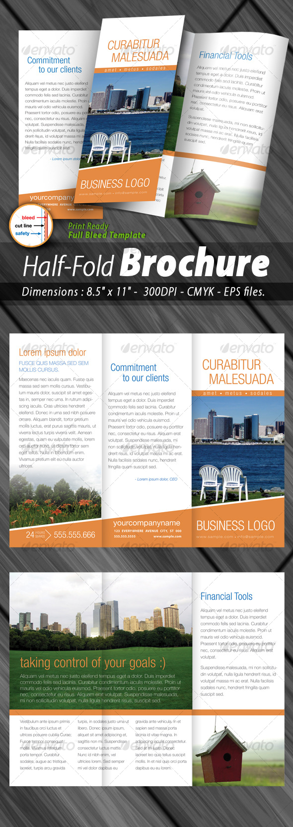 Tri-fold Brochure Print ready - Corporate Brochures