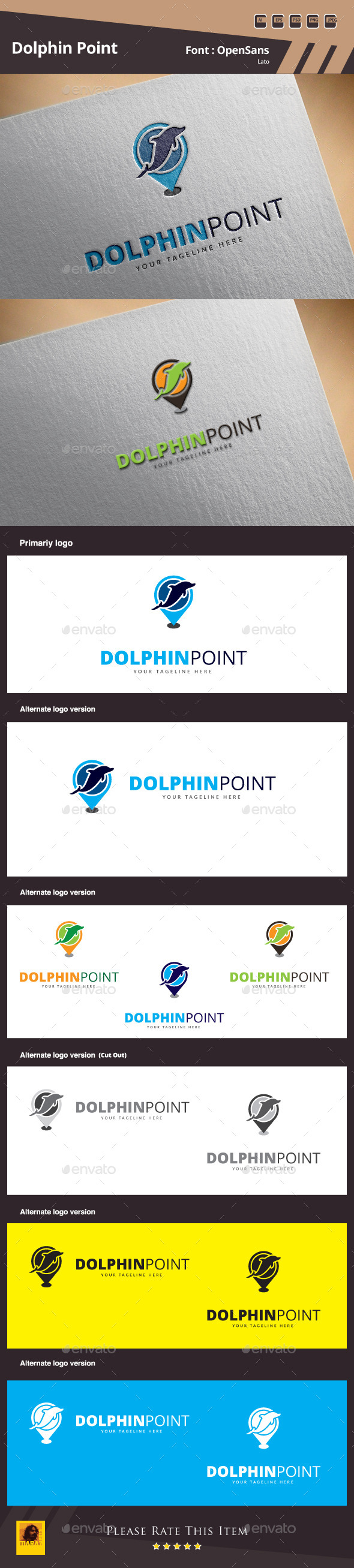 Dolphin Point Logo Template - Nature Logo Templates