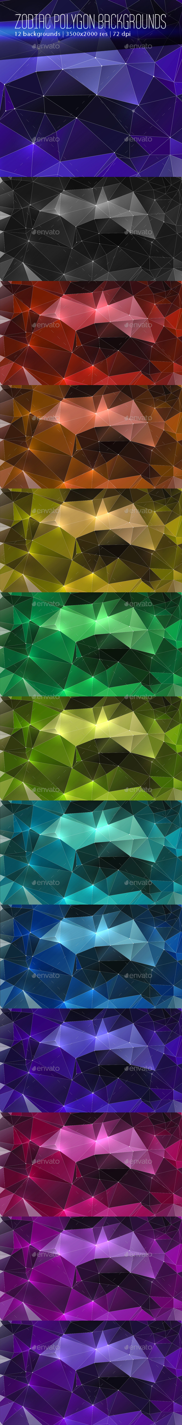 Zodiac Polygon Backgrounds - Abstract Backgrounds
