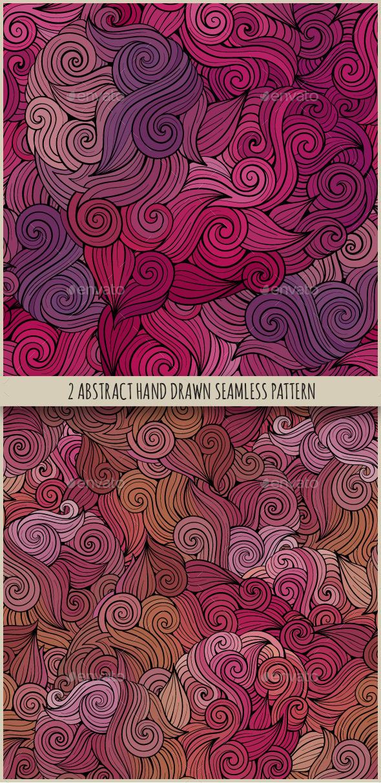 2 Curls Seamless Patterns - Backgrounds Decorative