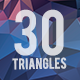 30 Triangles Background Bundle