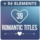 39 Titles Romantic - VideoHive Item for Sale