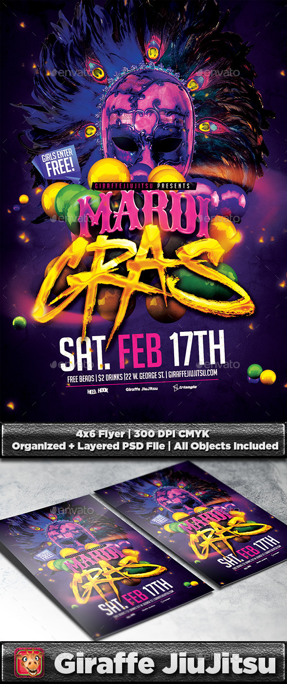 Mardi Gras Flyer Template - Events Flyers