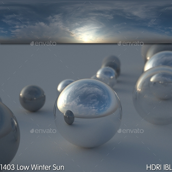 HDRI IBL 1403 Low Winter Sun - 3DOcean Item for Sale