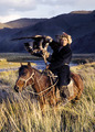 Kazakh on Horse With Eagle - PhotoDune Item for Sale