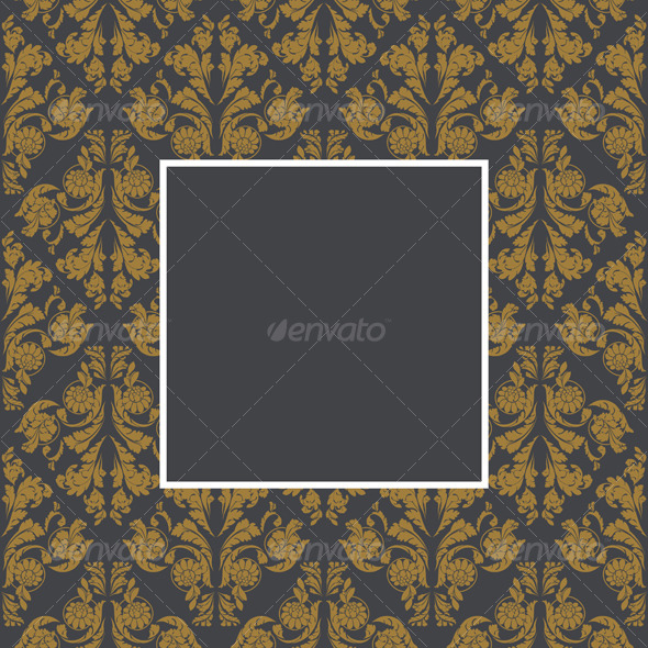 Golden floral frame - Borders Decorative