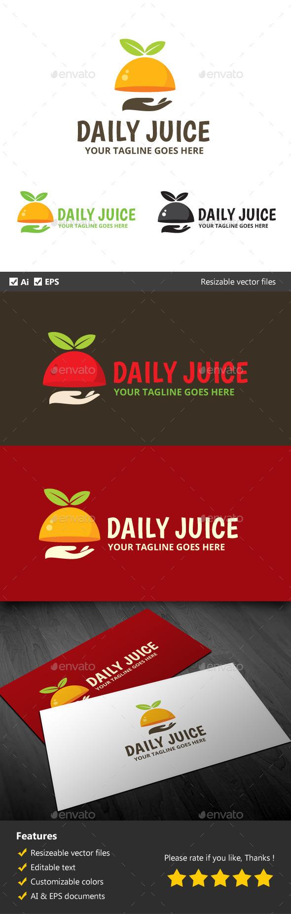 Daily Juice - Food Logo Templates