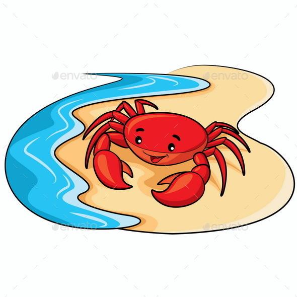 Crab Cartoon - Animals Characters