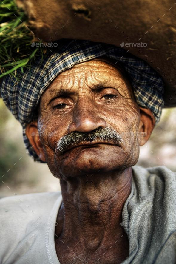 Indigenous Senior Indian Man Looking Grumpy At The Camera - Stock Photo - Images