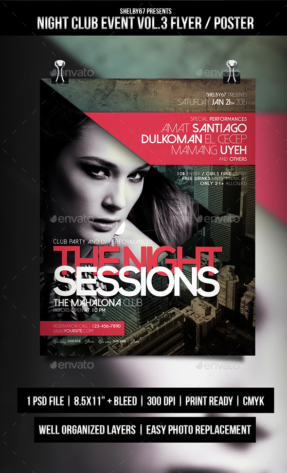 Night Club Event Flyer / Poster Vol.3 - Events Flyers