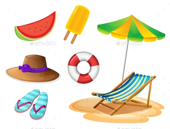 Summer Items - Man-made Objects Objects