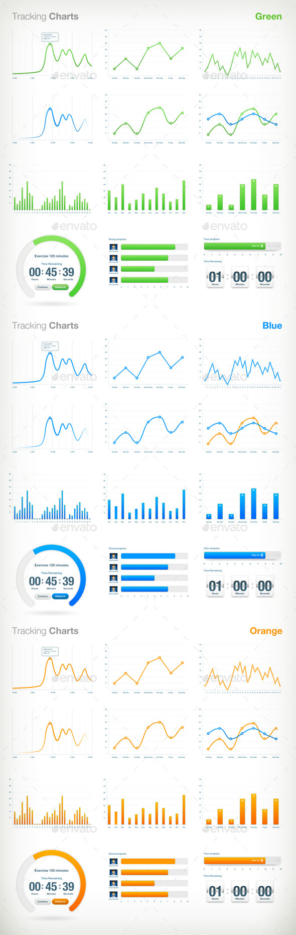 Tracking Charts - Infographics