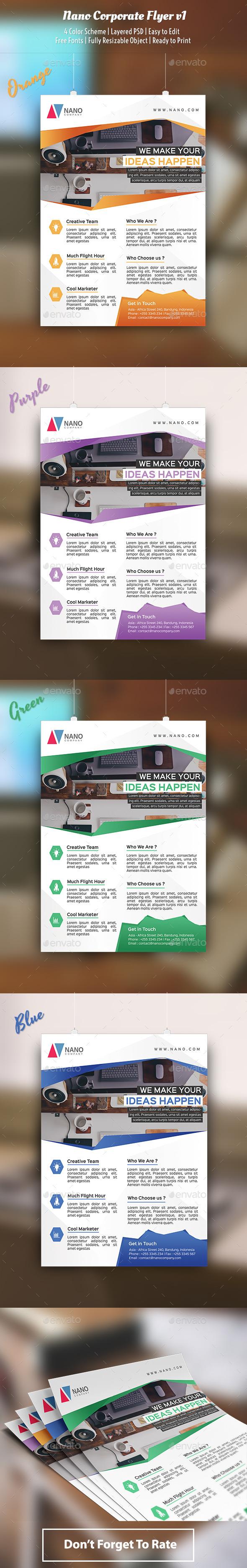 Nano Flyer Template v1 - Corporate Flyers