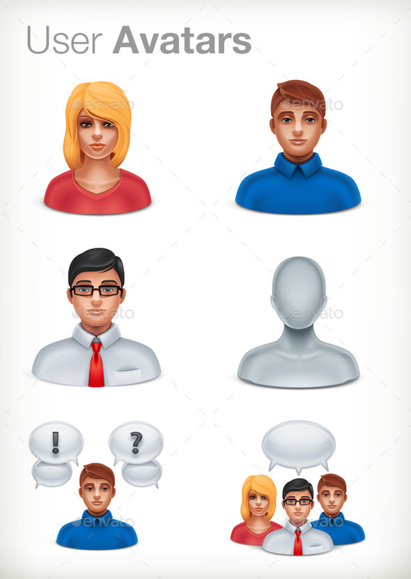 Basic User Avatars - People Characters