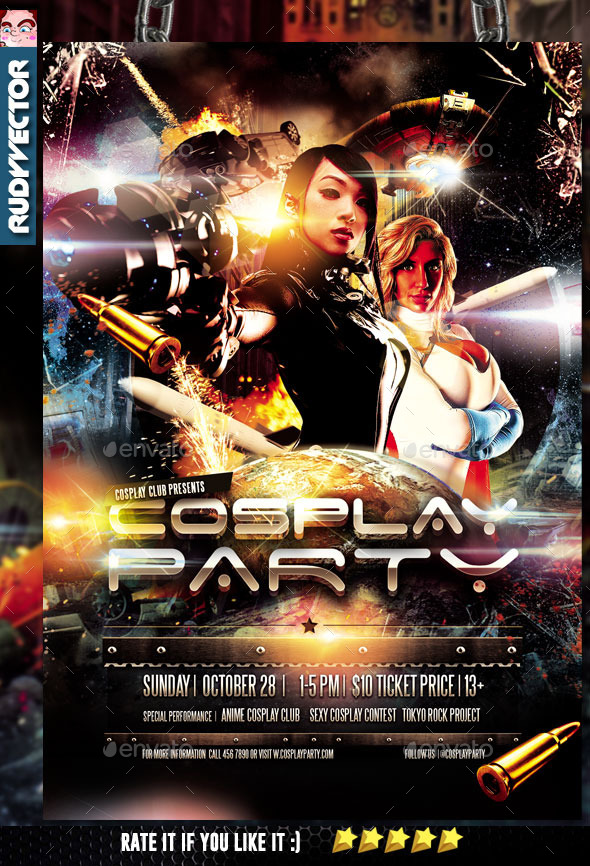 Cosplay Costume Party Flyer Template - Events Flyers