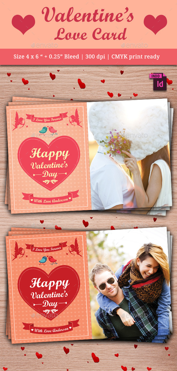 Valentine's Day Card - Cards & Invites Print Templates