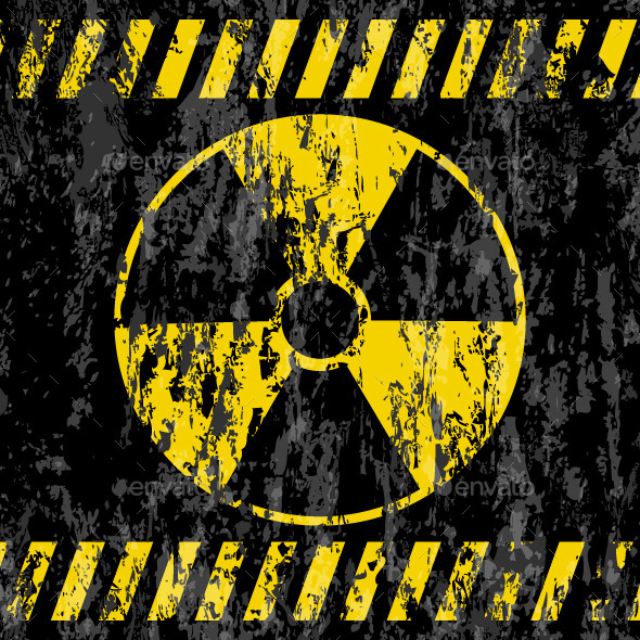 Grunge Radiation Sign Background - Industries Business