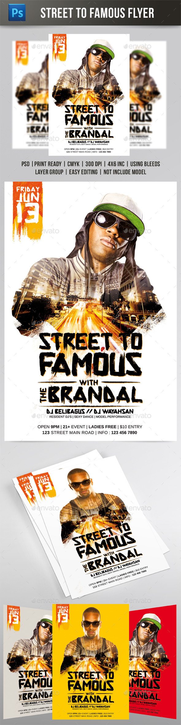Street to Famous Flyer - Events Flyers