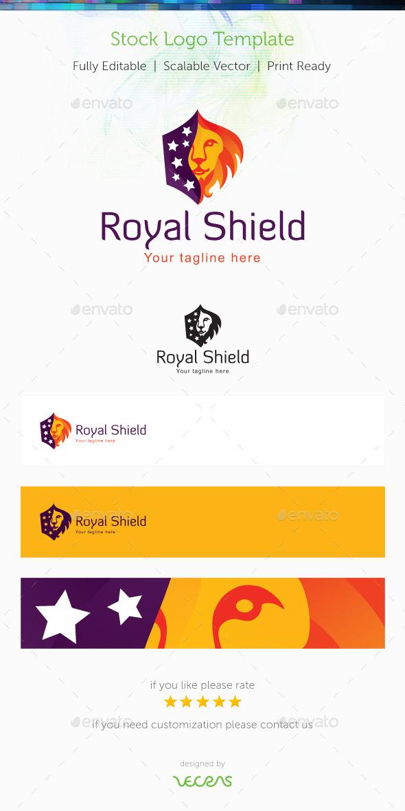 Royal Shield Stock Logo Template - Objects Logo Templates