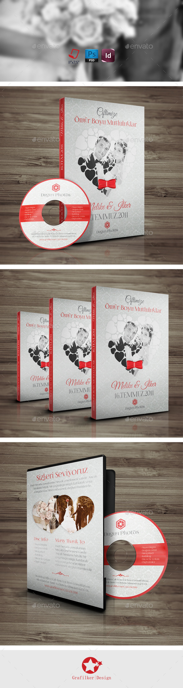 Wedding Dvd-Cd Cover Templates - CD & DVD Artwork Print Templates