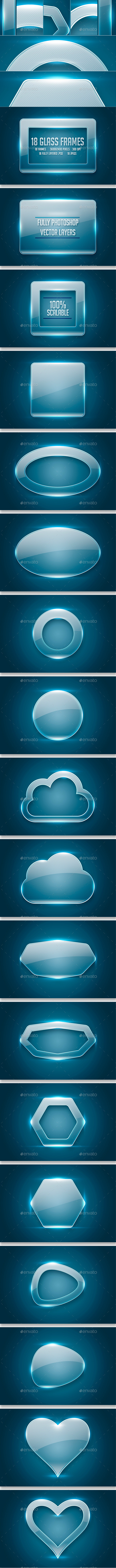 Glass Frames - Backgrounds Graphics