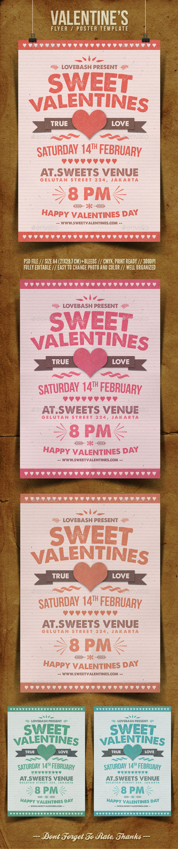 Valentine's Day Flyer Template - Holidays Events