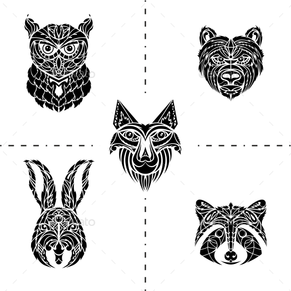 Animals Tattoo - Tattoos Vectors
